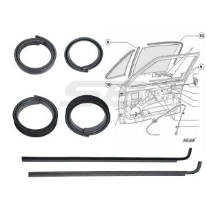 front door seal kit golf mk1